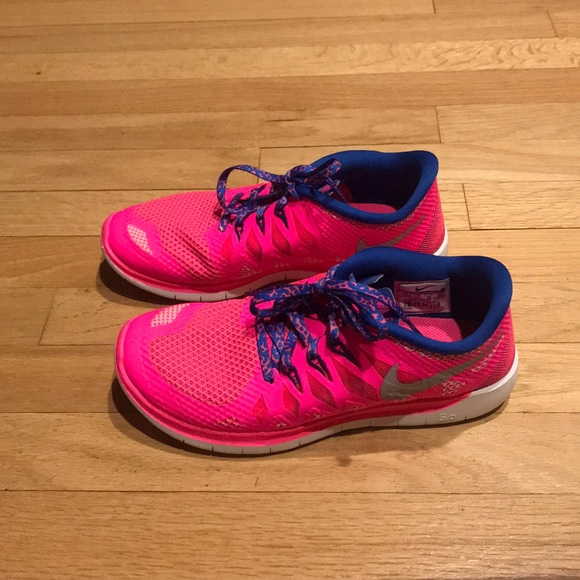 Nike Shoes - Pink and blue nike free